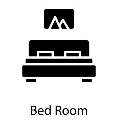 A furnished room with bed and painting representing bed room