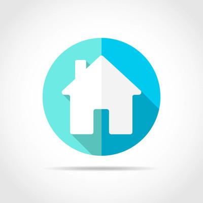 房子图标。矢量图