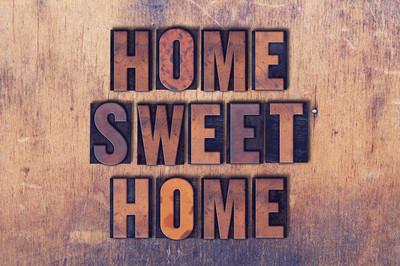 甜蜜之家主题活版字木背景