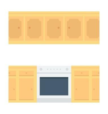 厨房家具矢量图标