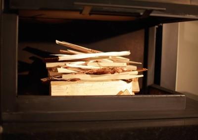 壁炉里的木头