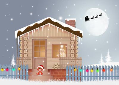 在圣诞节的房子