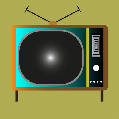 老式的老式电视与天线方法