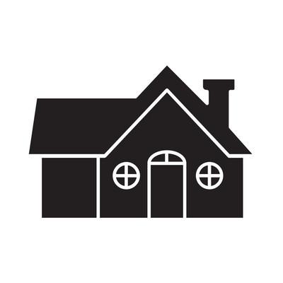 平黑房子图标