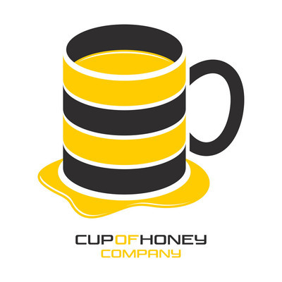 Cup with honey logo