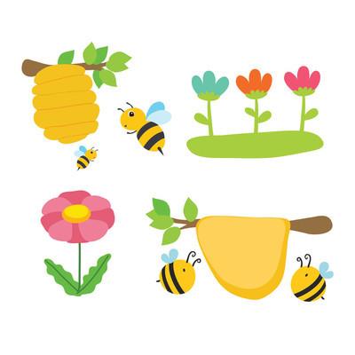honey bee vector design