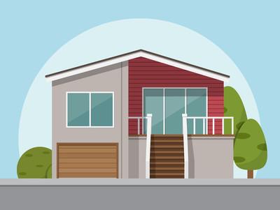 房子图标。矢量图在平面样式