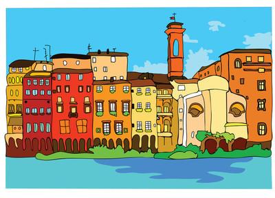 城市景观的欧洲城市
