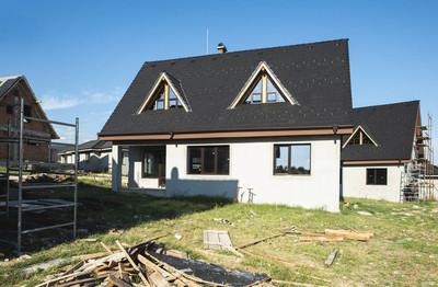 新的房子。施工现场