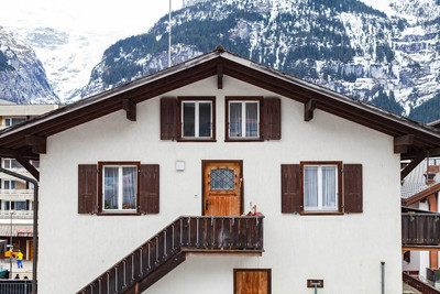 Picture of a traditional house in Interlaken, Switzerland