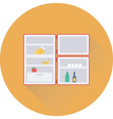 冰箱平面矢量图标