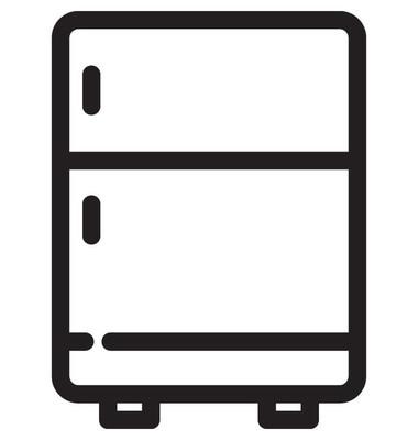 冰箱线矢量图标