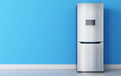 现代不锈钢冰箱