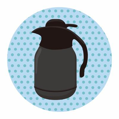 咖啡水壶主题元素