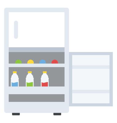 冰箱平面图标设计