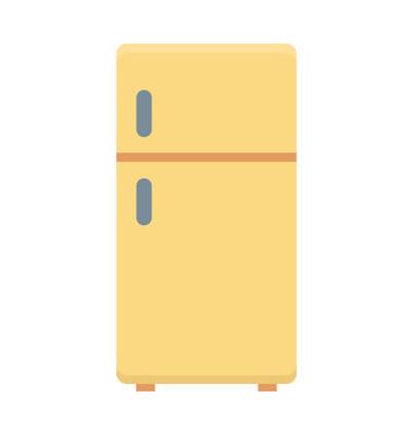 冰箱彩色矢量图标