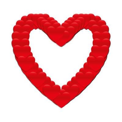 爱的心形状浪漫图标