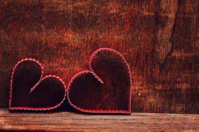 背景木心形状爱