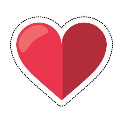 爱的心浪漫标志