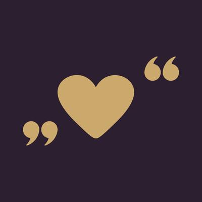 爱图标。心的符号。单位