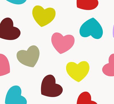 心的爱无缝图案背景。矢量插画