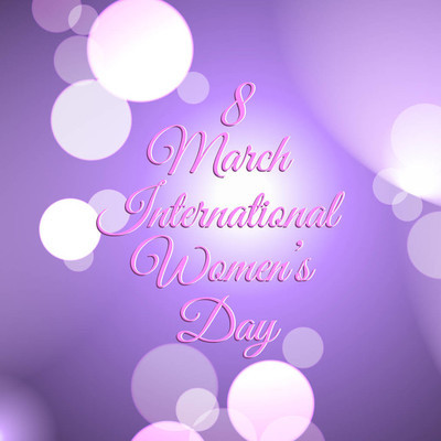 Decorative background  for international women's day