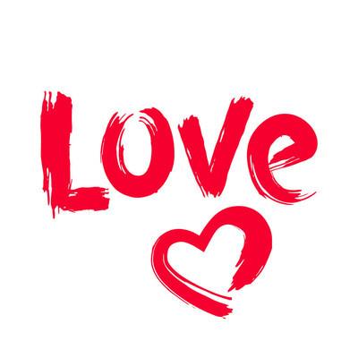 手绘爱和心的形状