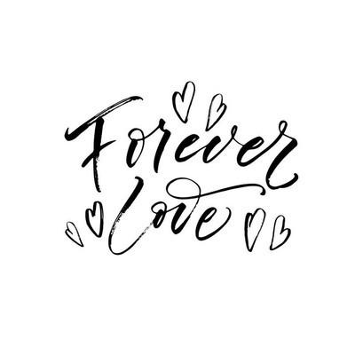 永远的爱与心的明信片