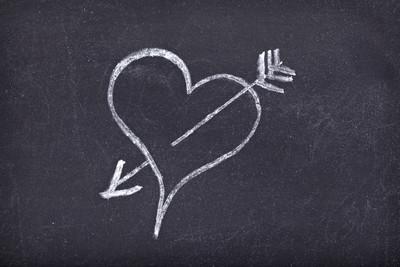 爱的心学校黑板