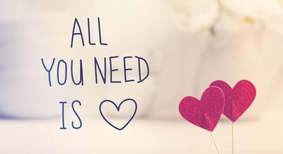 所有你需要的是爱的讯息