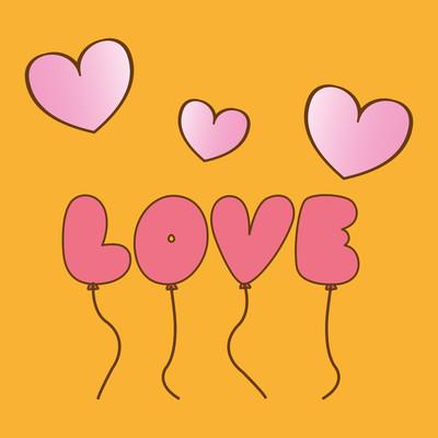 爱的气球设计、 矢量图