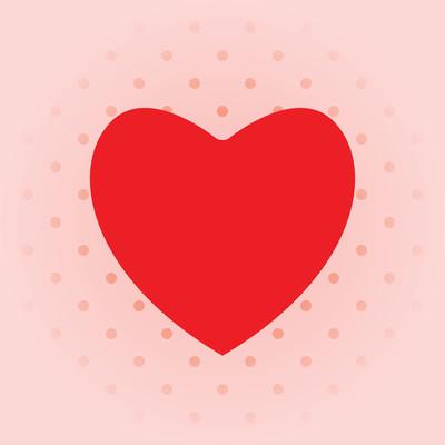 爱背景与红色的心
