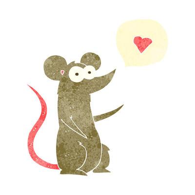 在爱的复古卡通鼠标