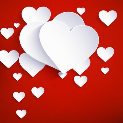 情人节背景的心。10 eps