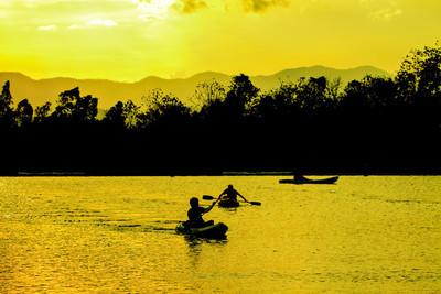 抽象的自然、 皮划艇、 sunste