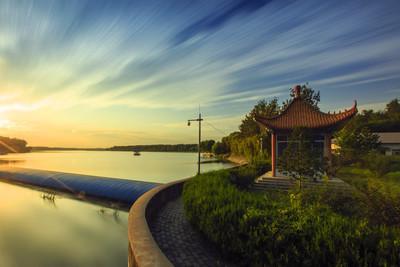 苏闸桥夕阳美景