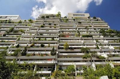绿色混凝土阳台 Olympiadorf 奥林匹亚高层公寓村慕尼黑