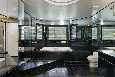 主浴室家居奢华中