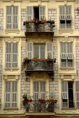 阳台,尼斯,法国里维埃拉