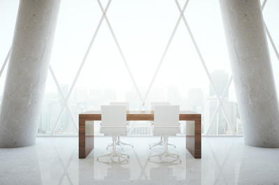Small conference table in room