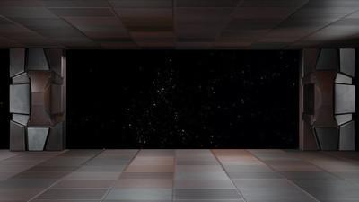 空间环境,准备 comp 的你人物 3d 楼效果图