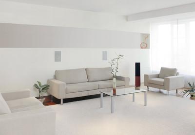 现代家居室内与免费墙空间