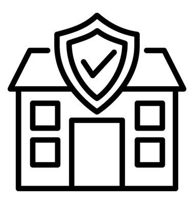 家庭保险矢量图标