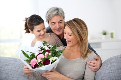 家庭庆祝母亲节