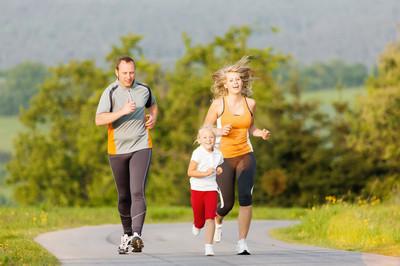 家庭中运行为户外运动