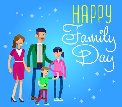 国际日家庭概念的插图