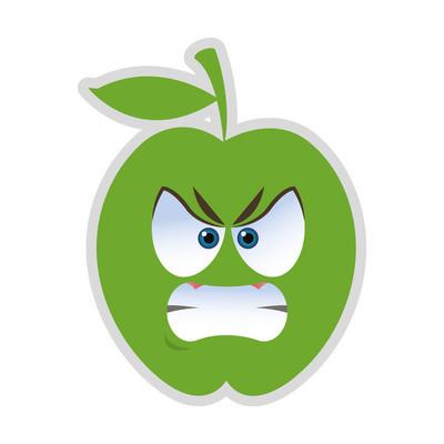 愤怒的苹果卡通图标