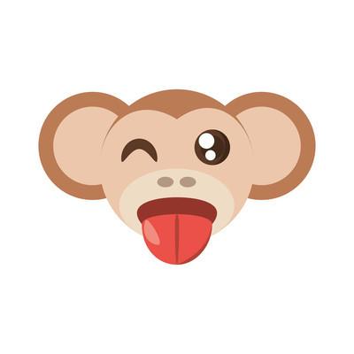卡哇伊脸猴动物乐趣