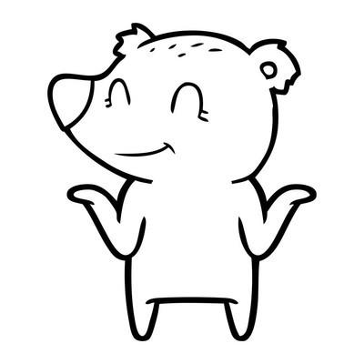 卡通女孩微笑的矢量插画