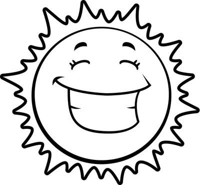 卡通太阳微笑